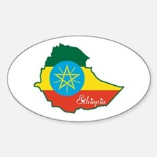 Cool Ethiopia Oval Decal