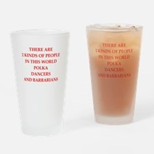polka Drinking Glass