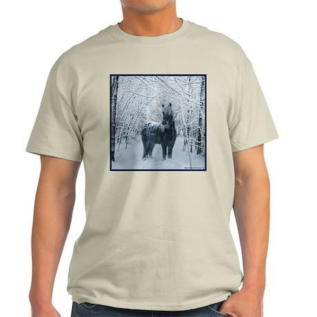 Winter horse. Christmas horse Light T-Shirt