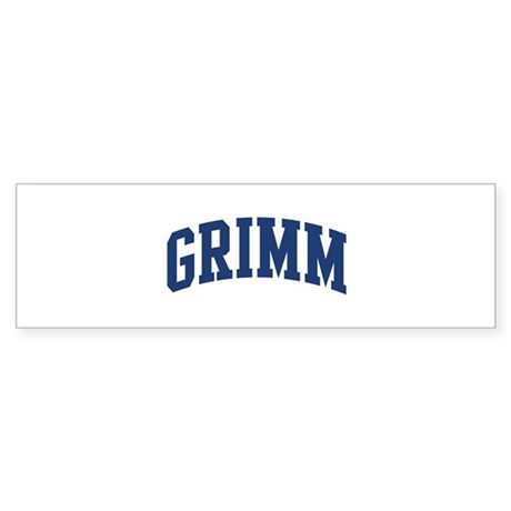 GRIMM design (blue) Bumper Sticker