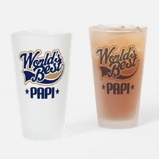Worlds Best Papi Gift Idea Drinking Glass