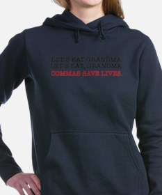Cute Punctuation saves lives Women's Hooded Sweatshirt
