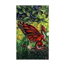"""Fairy Dragon"" Red Fairy Dragon Sticker (Rectangl)"