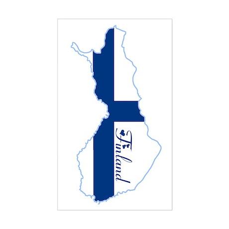 Cool Finland Rectangle Sticker