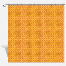 Yellow Red Purple Zigzag Grid Shower Curtain