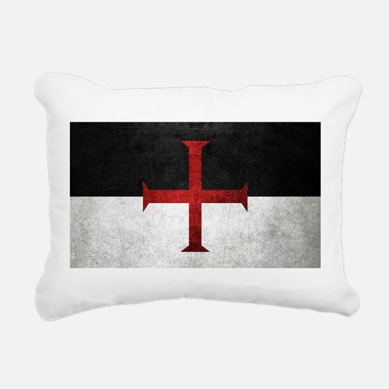 Flag of the Knights Templar Rectangular Canvas Pil