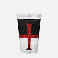 Flag of the Knights Templar Acrylic Double-wall Tu