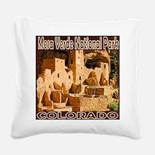 Mesa Verde National Park Square Canvas Pillow