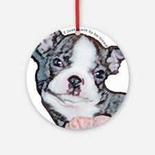 Boston Terrier Puppy Keepsake (Round)