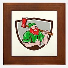Paul Bunyan Lumberjack Axe Thumbs Up Crest Cartoon