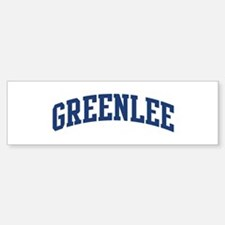 GREENLEE design (blue) Bumper Bumper Bumper Sticker