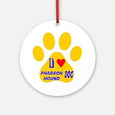 I Love Pharaoh Hound Dog Round Ornament