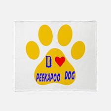 I Love Peekapoo Dog Throw Blanket