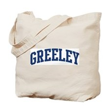 GREELEY design (blue) Tote Bag