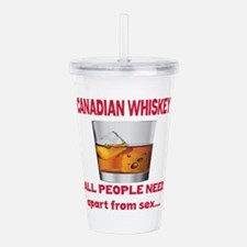 Canadian Whiskey All P Acrylic Double-wall Tumbler