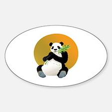 Cute Panda glass Decal