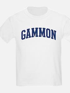 GAMMON design (blue) T-Shirt