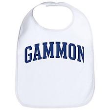 GAMMON design (blue) Bib