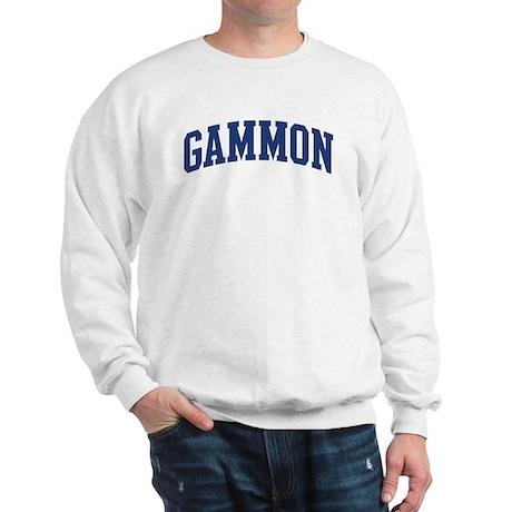 GAMMON design (blue) Sweatshirt