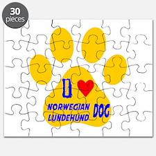 I Love Norwegian Lundehund Dog Puzzle