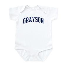 GRAYSON design (blue) Infant Bodysuit