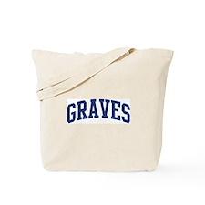 GRAVES design (blue) Tote Bag