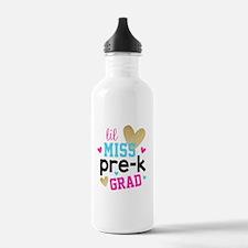 Lil Miss Pre-K Grad Water Bottle