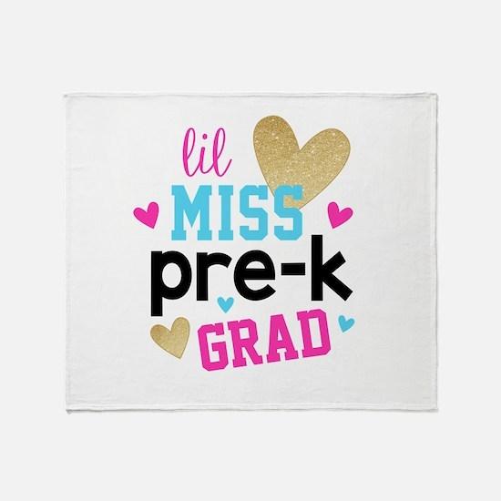 Lil Miss Pre-K Grad Throw Blanket