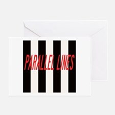 Parallel Lines Card Greeting Cards