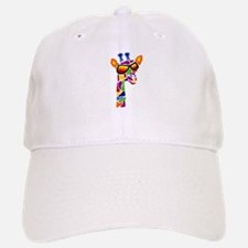 Giraffe in Sunglasses Baseball Baseball Cap