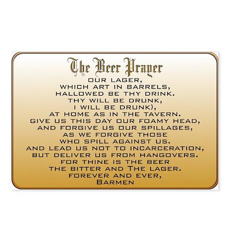 Beer Prayer Postcards (Package of 8)