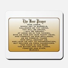 Beer Prayer Mousepad