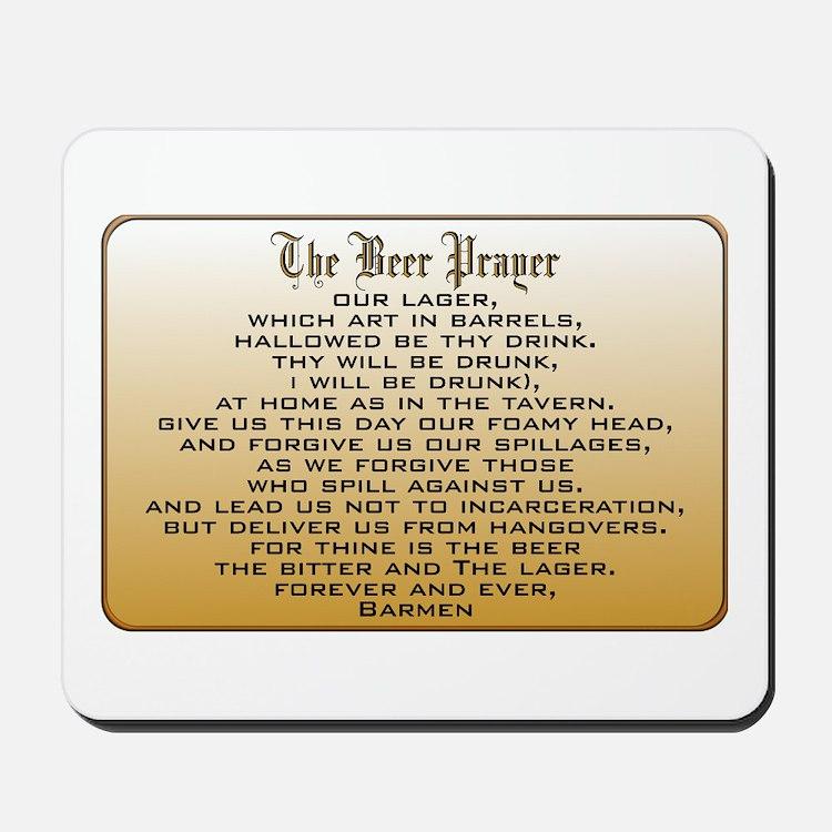 Beer Prayer Mousepad