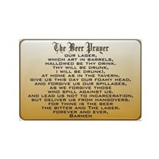 Beer Prayer Rectangle Magnet