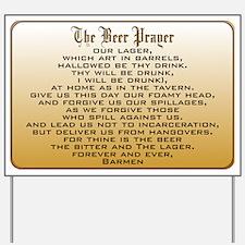 Beer Prayer Yard Sign