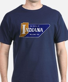 """""""The People of Indiana Welcome You"""" - T-Shirt"""