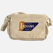 """""""The People of Indiana Welcome You"""" Messenger Bag"""