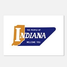 """The People of Indiana We Postcards (Package of 8)"
