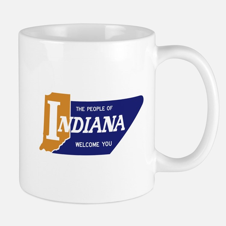 """""""The People of Indiana Welcome You"""" - U Mug"""