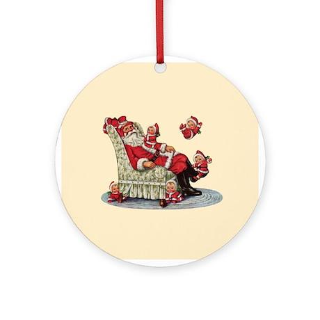 Santa Claus with Children Ornament (Round)