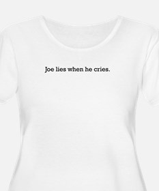 Joe Lies Plus Size T-Shirt