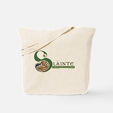 Slainte Celtic Knotwork Tote Bag