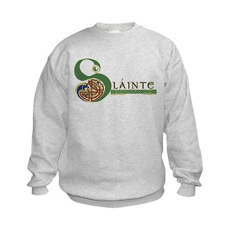 Slainte Celtic Knotwork Kids Sweatshirt