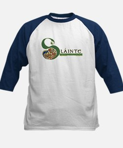 Slainte Celtic Knotwork Kids Baseball Jersey