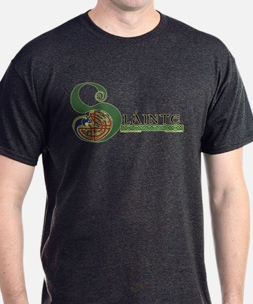 Slainte Celtic Knotwork T-Shirt in Dark Colors