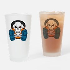 Cool Bodybuilding cartoon Drinking Glass
