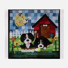 Berners at Play Throw Blanket