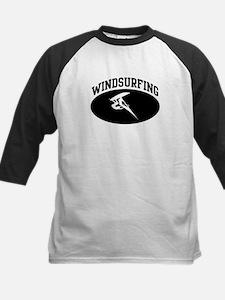 Windsurfing (BLACK circle) Kids Baseball Jersey