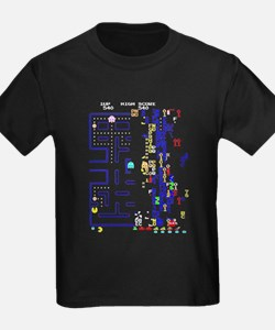 Pac Man Glitch Design T-Shirt