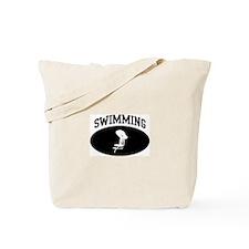 Swimming (BLACK circle) Tote Bag
